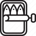 cuisine, dish, fish, meat, poultry icon
