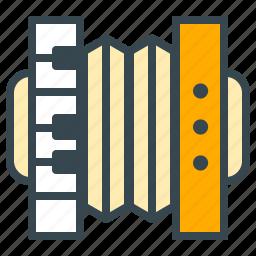 accordion, dutch, entertainment, holland, instrument, music, sound icon
