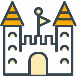 building, castle, culture, flag, game, historial icon