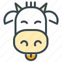 animal, cow, culture, milk icon