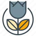 dutch, floral, flower, holland, nature, plant, tulip icon