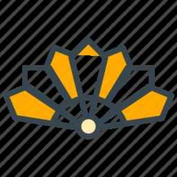 accessory, asian, culture, fan, propeller icon