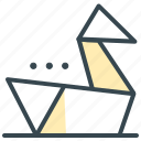 asian, culture, folding, oragami, paper icon