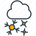 cloud, culture, snow, snowflake, winter icon
