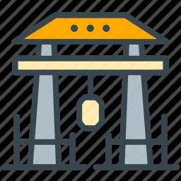 asian, culture, gate, japan, monument icon