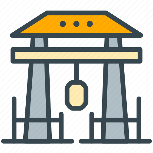 asian, culture, gate, japan, monument icon