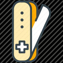 culture, knife, swiss, switzerland icon