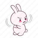 emotion, disapproved, mad, frowning, cuoi, displeasure, sticker icon
