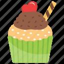 cream cupcake, cupcake, muffin, small cake, valentines cupcake icon