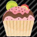 cupcake, small cake, sundae cupcake, sundae muffin, sweet cake icon
