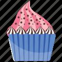 cream cupcake, cream muffin, cupcake, praline cupcake, sweet cake icon
