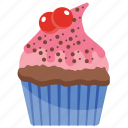 cupcake, muffin, raspberry cupcake, small cake, sweet cake icon
