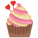 candy cupcake, candy muffin, cupcake, small cake, sweet cake icon