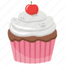 cream cupcake, cupcake, muffin, small cake, sweet cake icon