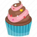 cupcake, dessert, muffin, small cake, sweet cake icon