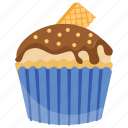 choco-vanilla cupcake, small cake, sweet cake, vanilla cupcake, vanilla muffin icon