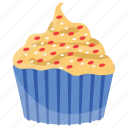 butter cupcake, butter muffin, cream cake, cupcake, small cake icon