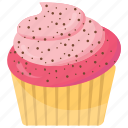 pink cupcake, small cake, cupcake, creamy muffin, strawberry cupcake