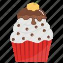 cupcake, mocha cupcake, mocha muffin, small cake, sweet cake icon