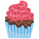 cinnamon cupcake, cinnamon muffin, cupcake, small cake, sweet cake icon