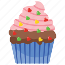 cream cake, cupcake, party cupcake, party muffin, sweet cake icon