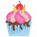 candy cupcake, candy muffin, colorful cake, cupcake, small cake icon