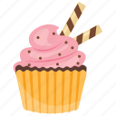 bubblegum cupcake, cupcake, muffin, small cake, sweet cake icon