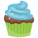 dessert, sweet cake, blueberry muffin, blueberry cupcake, cupcake