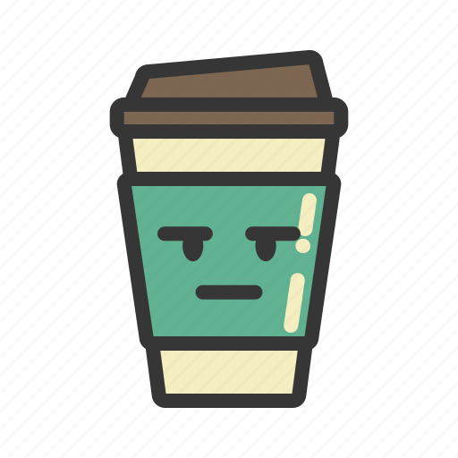 coffee, cup, emoji, emoticon, emotion, expression icon