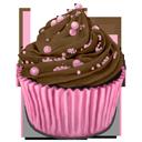 choco, cocos, cupcake