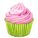 cupcake, pinky icon