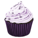 cupcake, purple, sweet icon