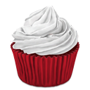 cupcake, desert, red icon