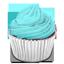 cupcake, cyan icon