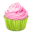 cupcake, pinky icon