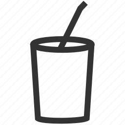 cup, drink, smoothie, soda, straw icon