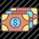 cash, notes, 1