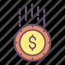 coin, dollar