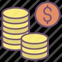 dollar, coins