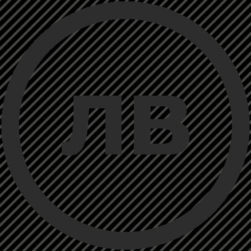 bgn, bulgarian, lev, stotinka icon