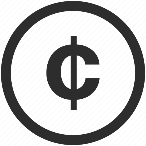 cent, currency, symbol icon