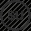 centesimo, peso, uruguayan, uyu icon