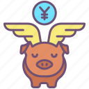 piggy, bank, with, wings