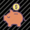piggy, bank, dollar