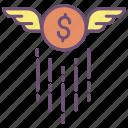 us, dollar, wing