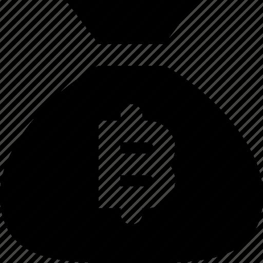 bag, bitcoin icon