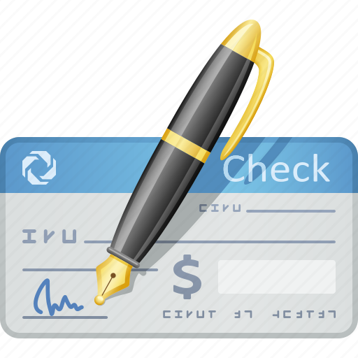 Check, cheque, pen, signature, signing icon - Download on Iconfinder