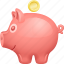 coin, deposit, finance, piggy bank, piggybank, savings icon