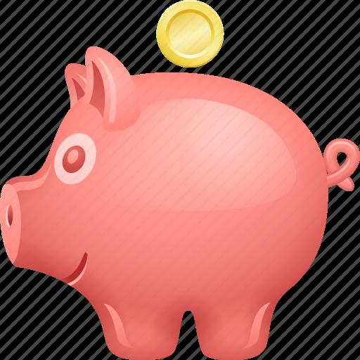 Coin, deposit, finance, piggy bank, piggybank, savings icon - Download on Iconfinder