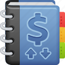 accounting, book, log, money, notebook, register icon